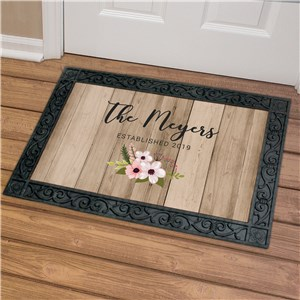 Personalized Floral Pallet Doormat | Personalized Couple Gifts