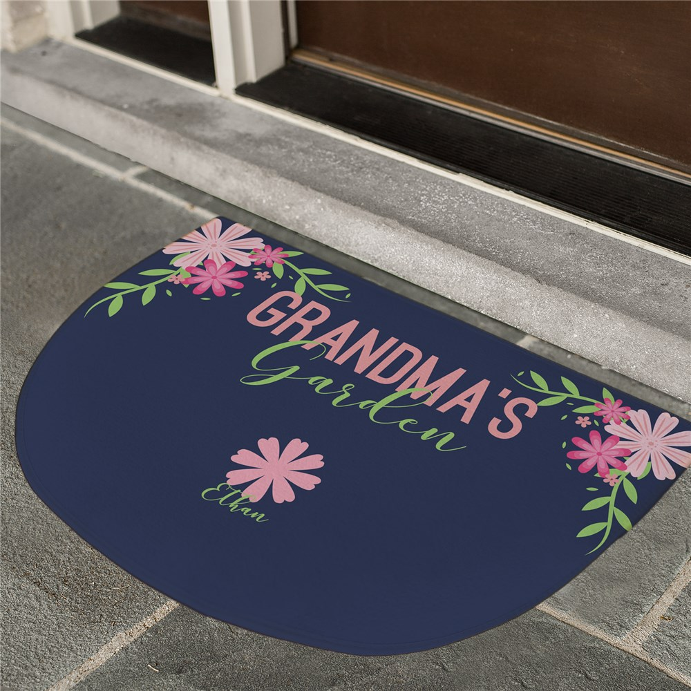 Personalized Floral Spring Doormat | Personalized Spring Decor