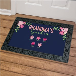 Personalized Grandmas Garden Doormat | Personalized Doormats