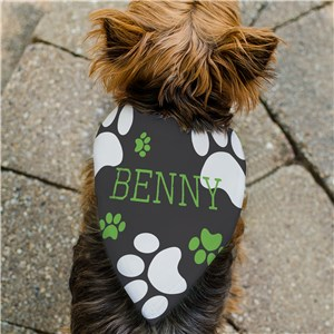 Personalized Paw Print Pet Bandana | Personalized Pet Bandanas