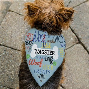 Personalized Woof Wag Treat Pet Bandana | Personalized Pet Bandanas