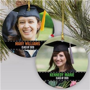 Personalized Graduation Photo Ornament | Graduation Gifts