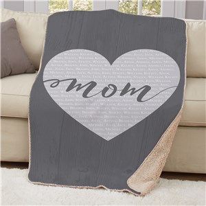 Personalized Mom Sherpa Blanket | Personalized Blankets