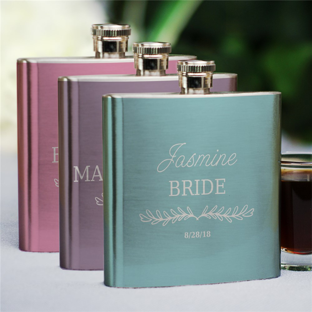 Personalized Bridesmaids Flask | Personalized Bridesmaid Flask