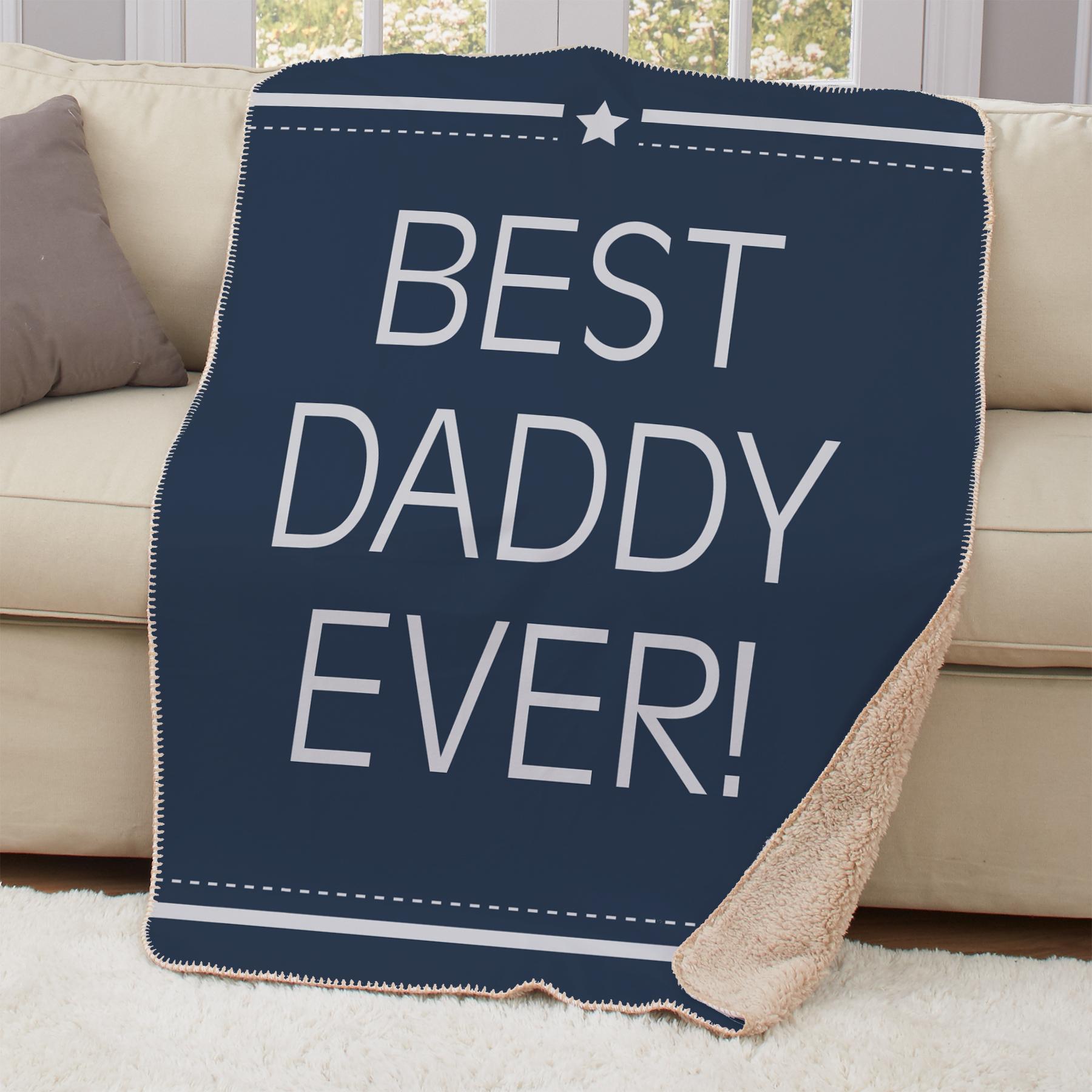 Personalized Best Daddy Ever Sherpa Blanket | Unique Father's Day Gifts