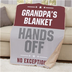 Personalized Hands Off Sherpa Throw | Personalized Sherpa Blankets