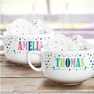 Personalized Polka Dot Ice Cream Bowl