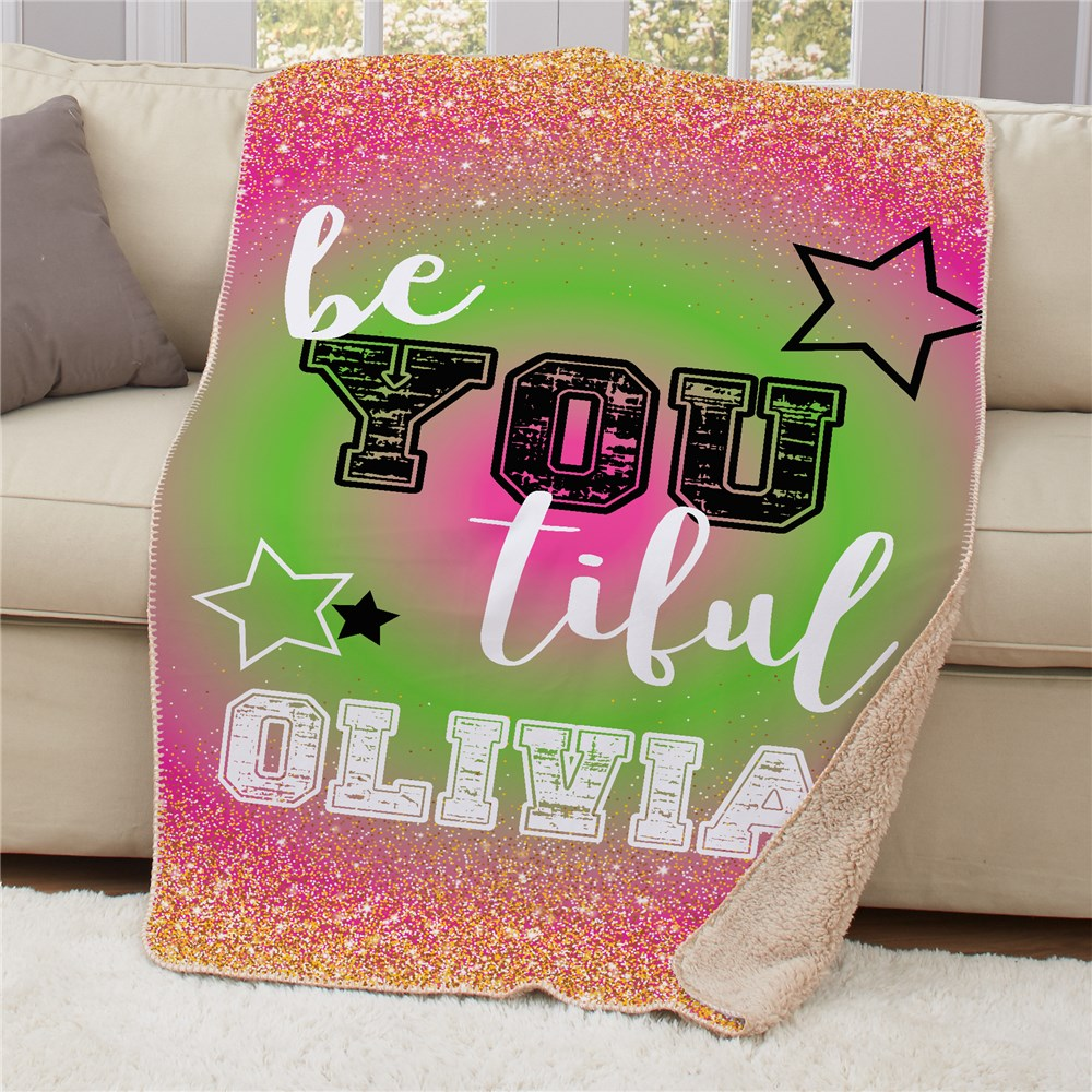 Personalized Be You Tiful Sherpa Blanket | Personalized Blanket