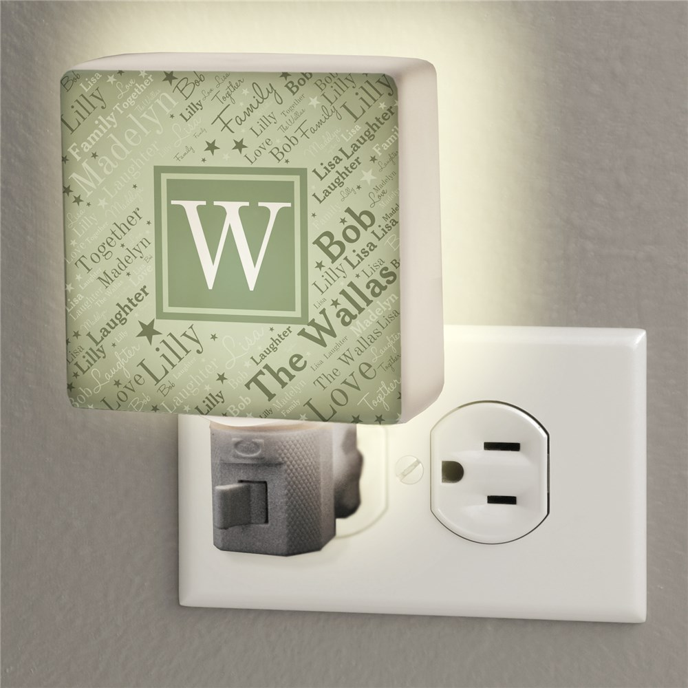 Personalized Family Word-Art Night Light | Personalized Night Light