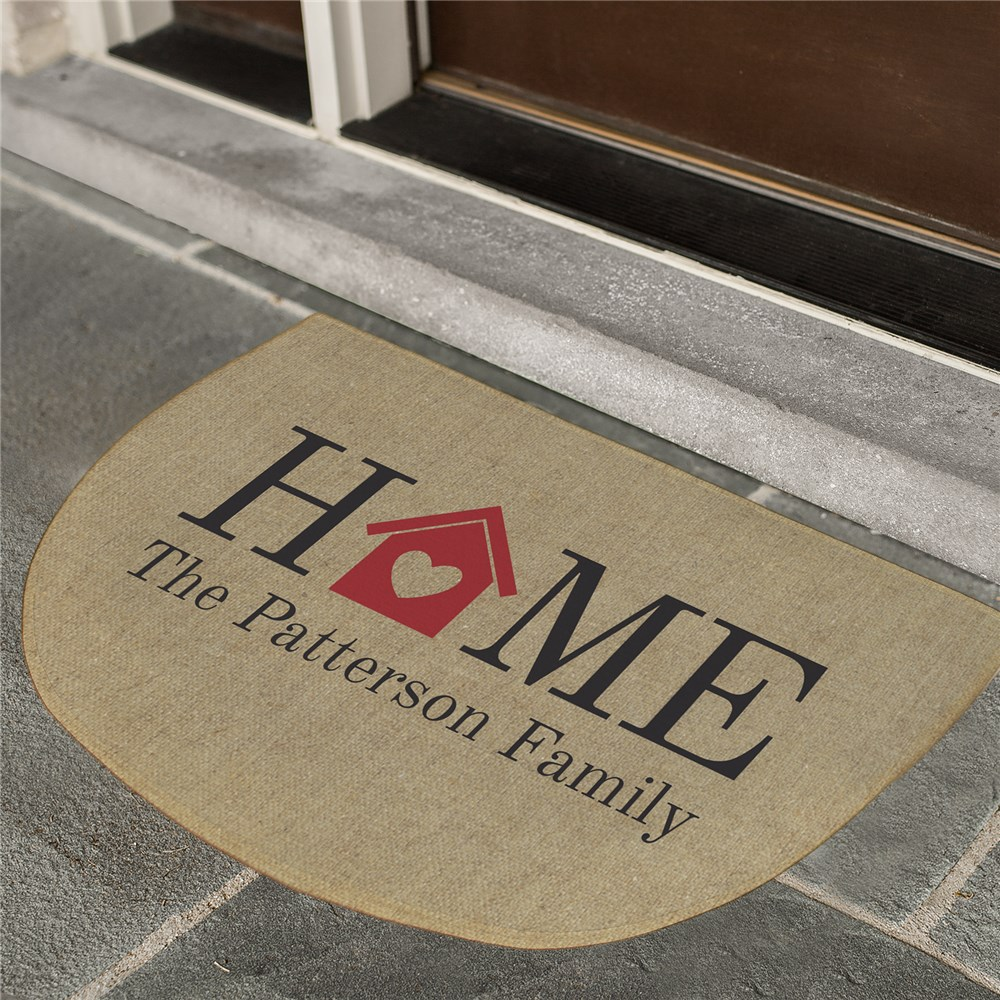 Personalized Heart Welcome Doormat | Personalized Doormat
