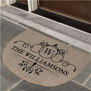 Personalized Doormats | Burlap Look Personalized Doormat