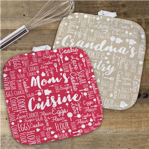 Personalized Nana's Kitchen Word Art Pot Holder | Personalized Pot Holders