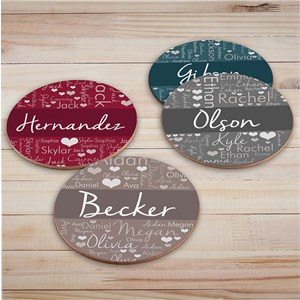 Personalized Word-Art Round Coasters U1323289