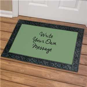 Personalized Write Your Own Doormat U1324483X