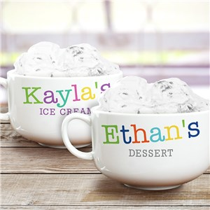 Personalized Colorful Names Ice Cream Bowl | Personalized Bowls