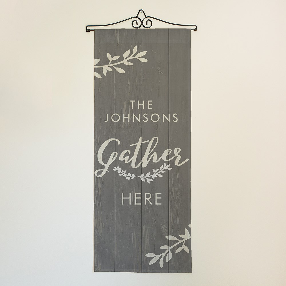 Personalized Gather Here Wall Hanging