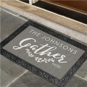 Family Gathers Personalized Doormat | GiftsForYouNow