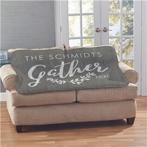 Personalized Gather Sherpa | Personalized Blankets