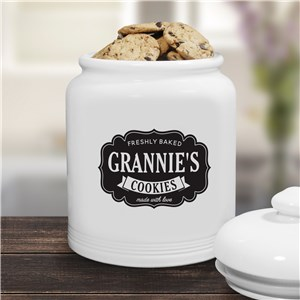 Personalized Farmhouse Ceramic Cookie Jar | Personalized Cookie Jars