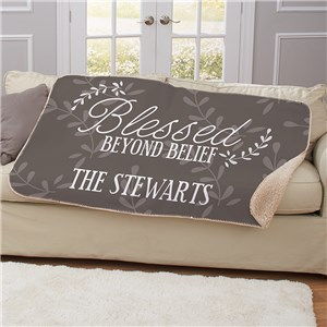 Personalized 50 x 60 Blessed Beyond Belief Sherpa Blanket U1335787
