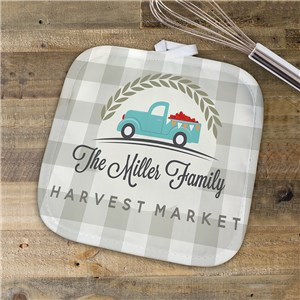 Harvest Market Personalized Pot Holder | Personalized Pot Holder