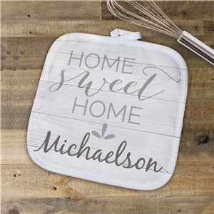 Home Sweet Home Personalized Pot Holder | Personalized Pot Holder