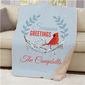 Personalized Seasons Greetings Cardinal Sherpa U134107