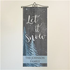 Let It Snow Personalized Wall Hanging | Winter Door Decorations