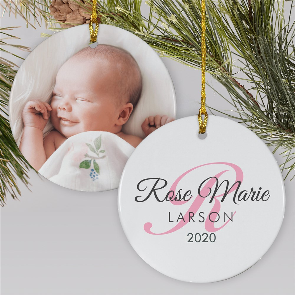 Baby's First Christmas Ornament | Photo Ornament For New Baby