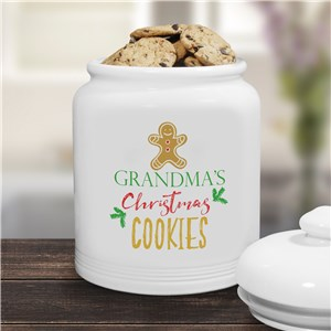 Christmas Cookies Personalized Cookie Jar | Christmas Cookie Jar