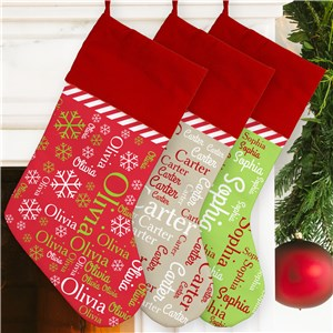 Christmas Word Art Stocking | Name Art Stocking