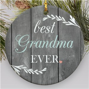 Best Grandma Ever Ornament | Rustic Grandma Ornament
