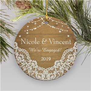 We're Engaged Ornament | Ornament For Engaged Couples