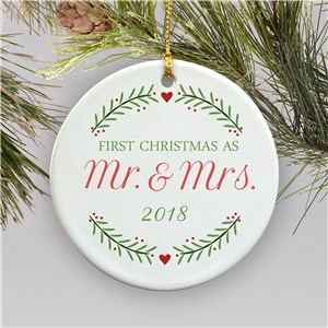 First Christmas as Newlyweds Ornament | Mr and Mrs Newlyweds Ornament