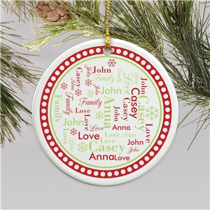Personalized Word Art Christmas Ornament | Ornament With Word Cloud