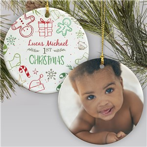 Personalized Gingerbread Photo Ornament | First Christmas Ornament With Photo