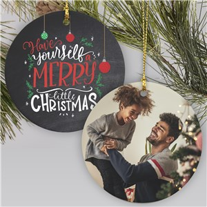 Merry Little Christmas Photo Ornament | Personalized Merry Christmas Photo Ornament