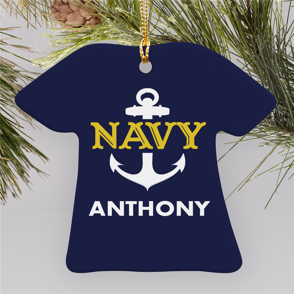 Navy Ornament with Name | Personalized Military Ornament