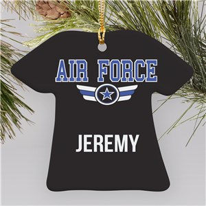 Air Force Ornament With Name | Military Christmas Ornaments