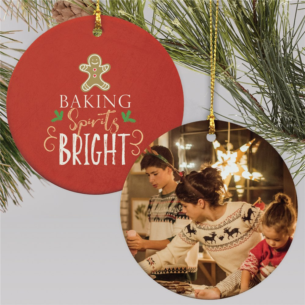 Baking Spirits Bright Ornament | Personalized Baking Ornament With Photo