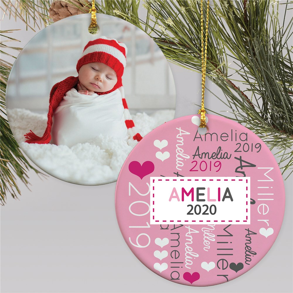 Baby's First Christmas Word-Art Ornament U1384710