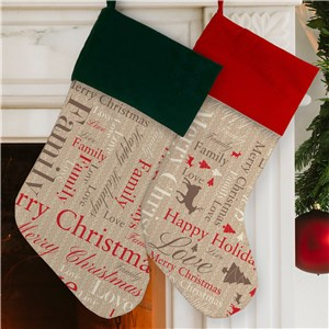 Unique Christmas Stockings | Personalized Holiday Stockings