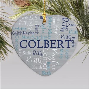 Word Art Christmas Ornaments | Heart Christmas Ornament