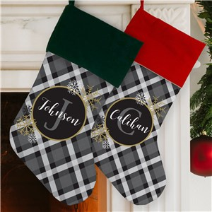 Christmas Stockings | Personalized Plaid Stockings