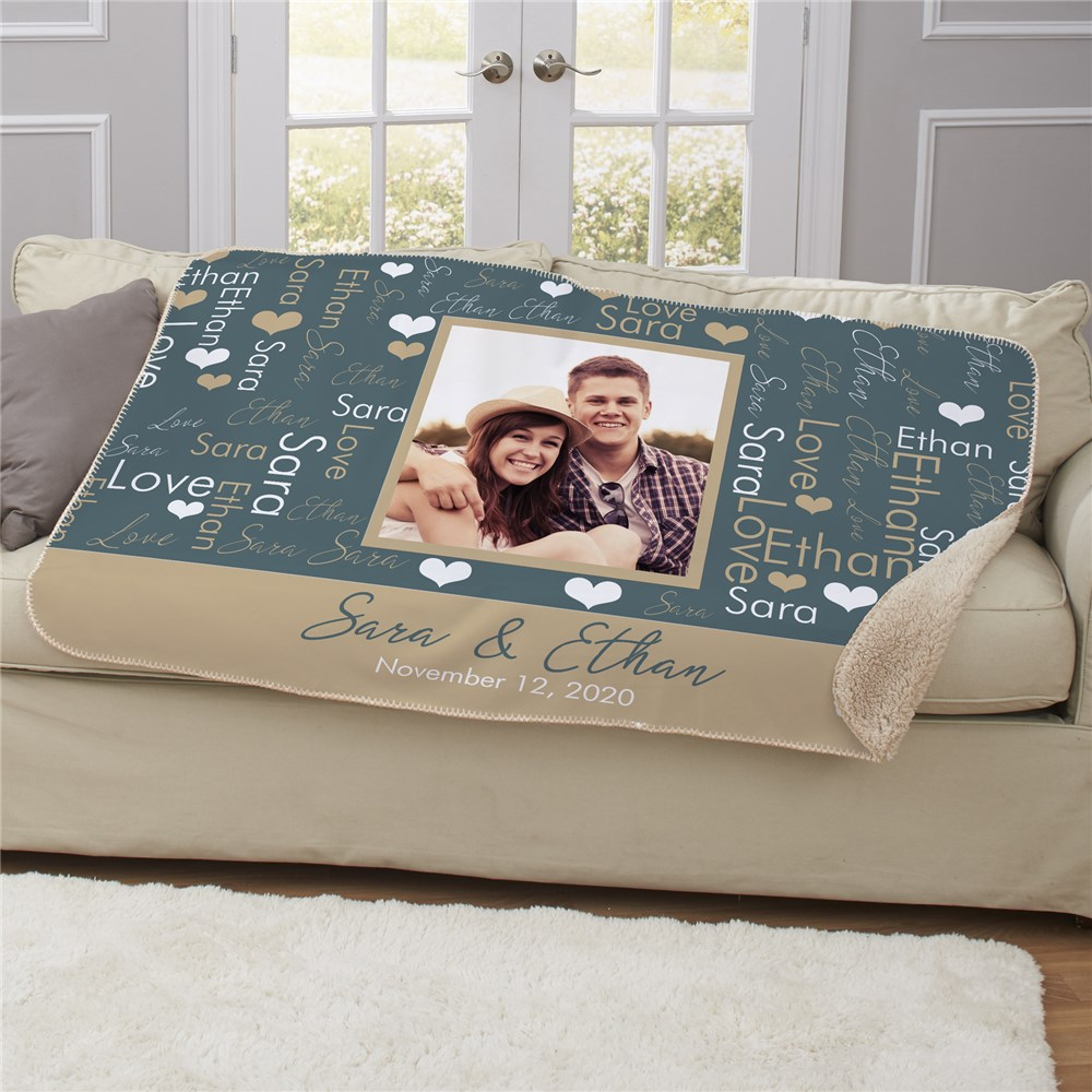 Photo Blanket | Personalized Gifts for Valentine's Day 2019
