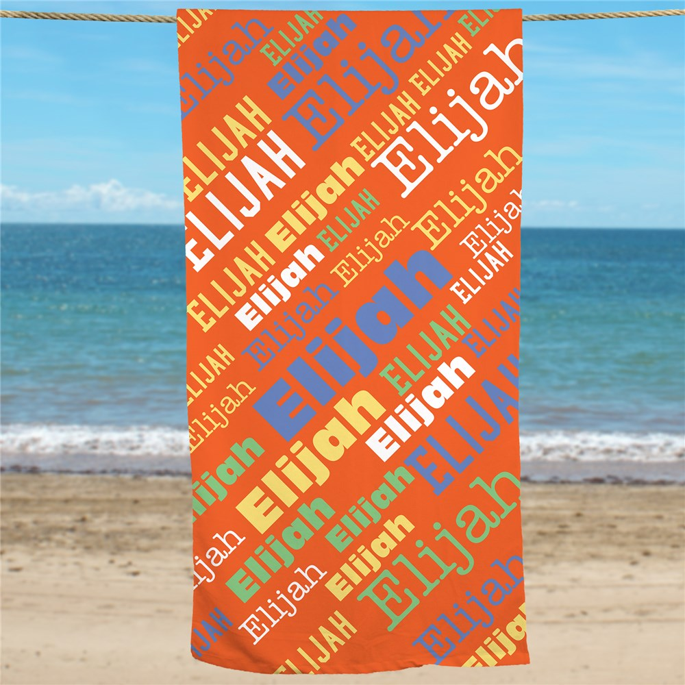 Personalized Kids Towels | Beach Towels With Name