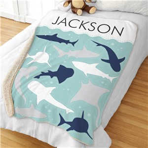 Personalized Kids Blankets | Shark Blankets For Kids Rooms