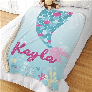 Giant Kids Blanket | Personalized Mermaid Blanket
