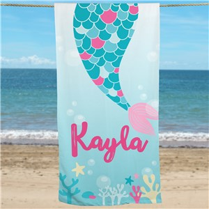 Personalized Beach Towels | Mermaid Gifts