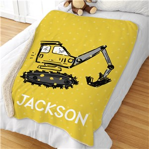 Boys Construction Bedroom Decor | Personalized Blankets For Kids Room